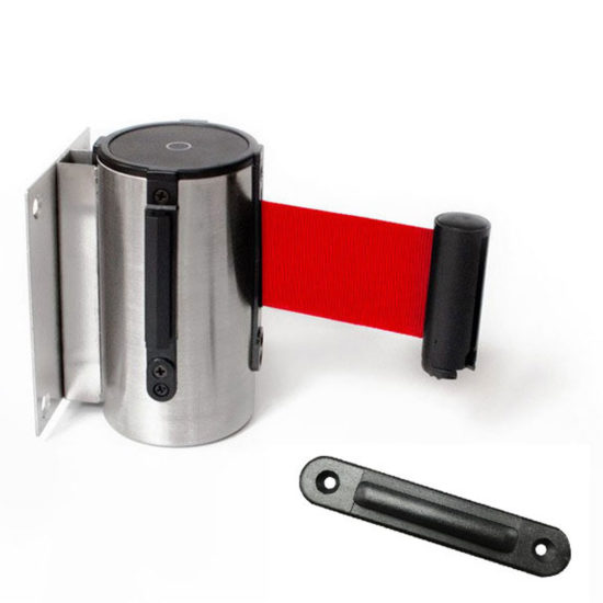 Retractable Barrier for Wall red