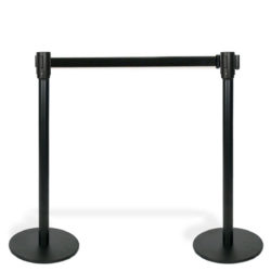 Q EZI 4way Retractable Barrier, Black Black set