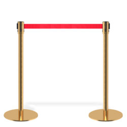Q EZI 4way Retractable Barrier, Gold set