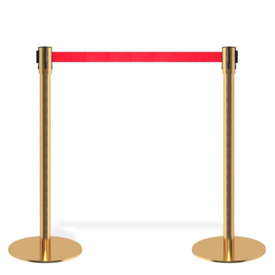 Q EZI 4way Retractable Barrier, Gold set