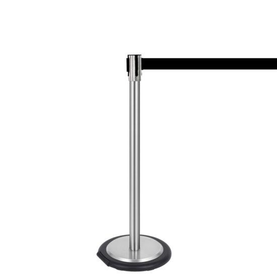 Ergonomic Q EZI 4way Retractable Barrier, Stainless Black