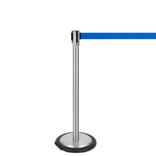 Ergonomic Q EZI 4way Retractable Barrier, Stainless Blue