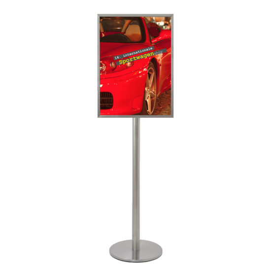 Stainless Steel Display Stand Q EZI Frame A2 front