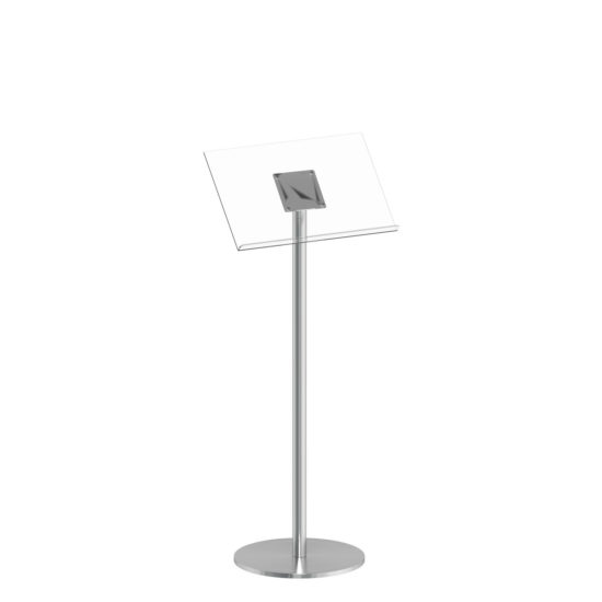 Q EZI Stainless Steel Lectern, Clear