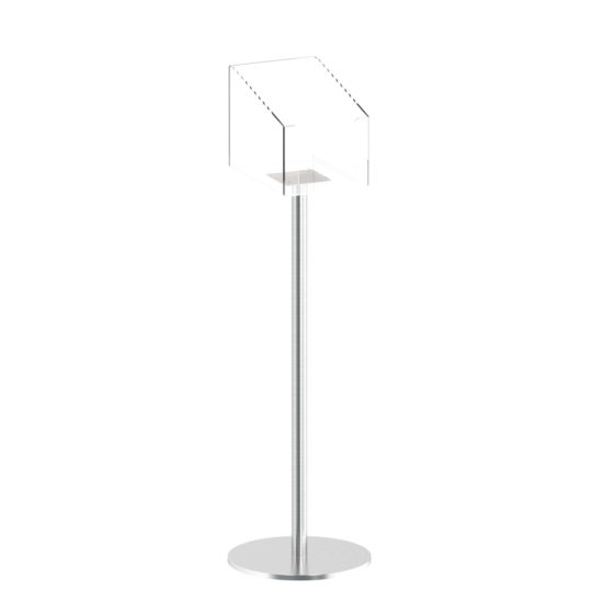 Stainless Steel Catalog Stand Q EZI Schlicht A4 without brochures