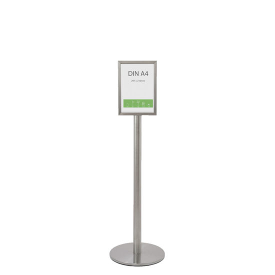 Stainless Steel Display Stand Q EZI Frame A4 Front