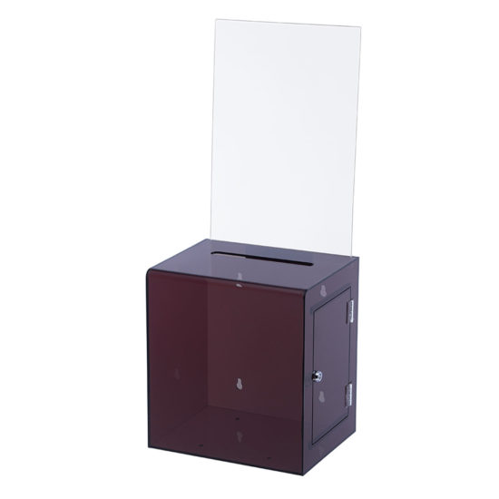 Suggestion Box with Sign Collect XL Clear Black