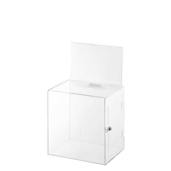 Ballot Box with Sign Collect Clear