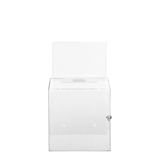 Ballot Box with Sign Collect Clear Front