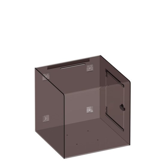 Ballot Box Collect XL Clear Black