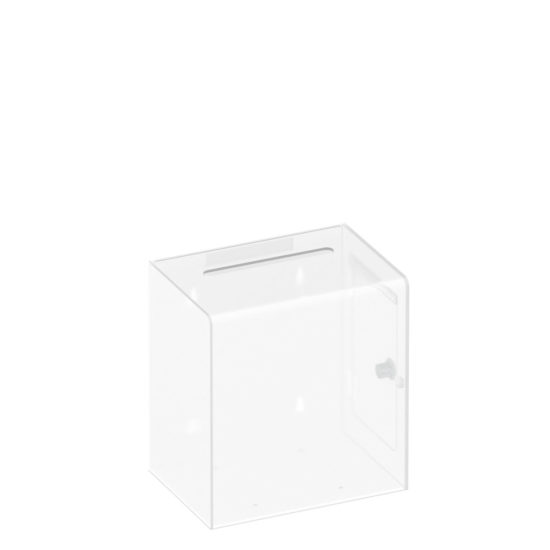 Ballot Box Collect Clear White