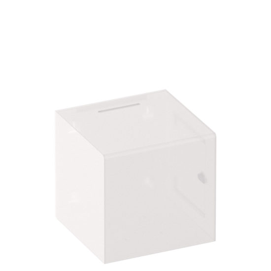 Ballot Box Collect XL Clear White