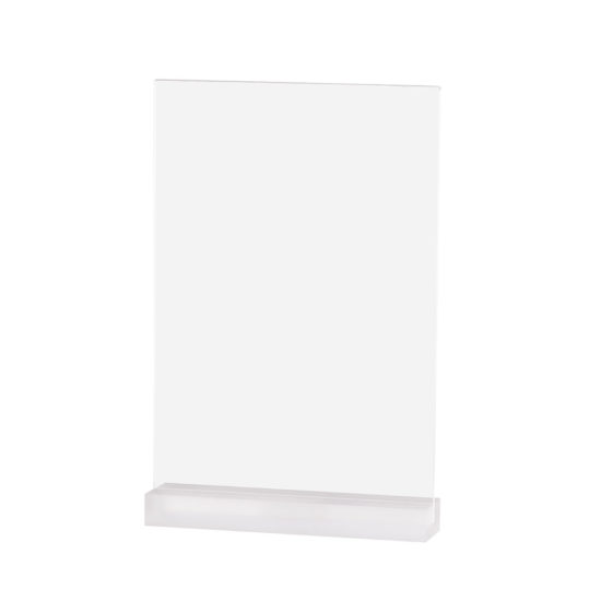 Table Sign Holder, Element Acrylic, Frost White, A4, Blank