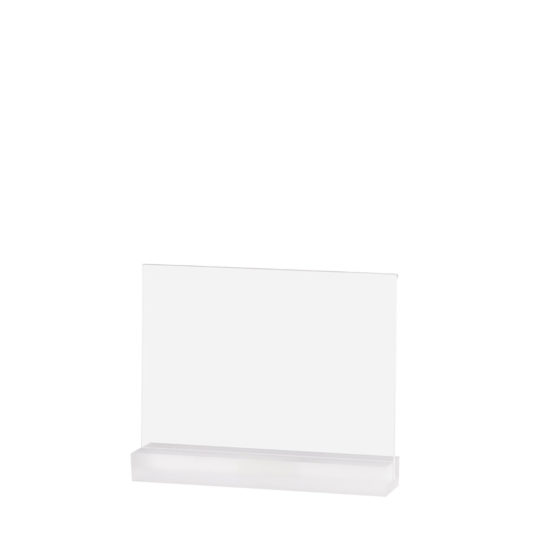 Table Sign Holder, Element Acrylic, Frost White, A5L, Blank