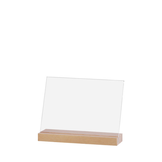 Counter Sign Holder Element Bamboo Angled A5L