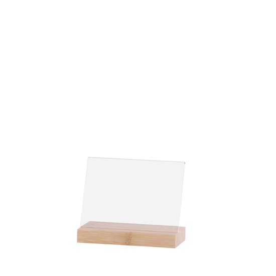 Counter Sign Holder Element Bamboo Angled A6L