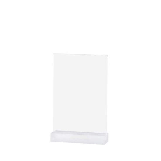 Tabletop Sign Holder, Element Acrylic, Frost White, A5, Blank