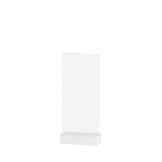 Tabletop Sign Holder, Element Acrylic, Frost White, DL, Blank