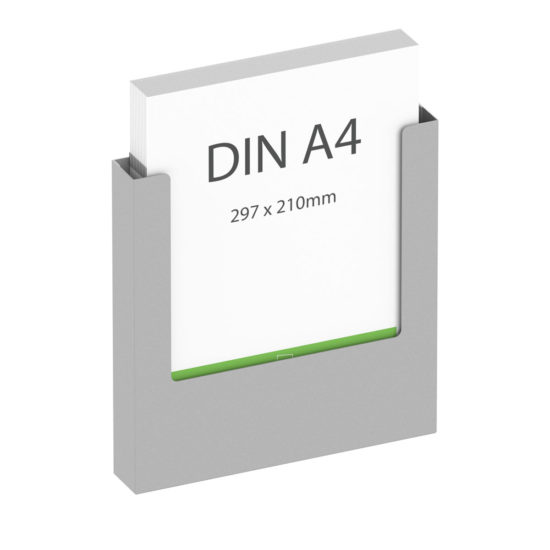 Wall Brochure Holder GS A4 Main, with brochures