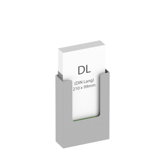 Wall Brochure Holder GS DL Main, with brochures