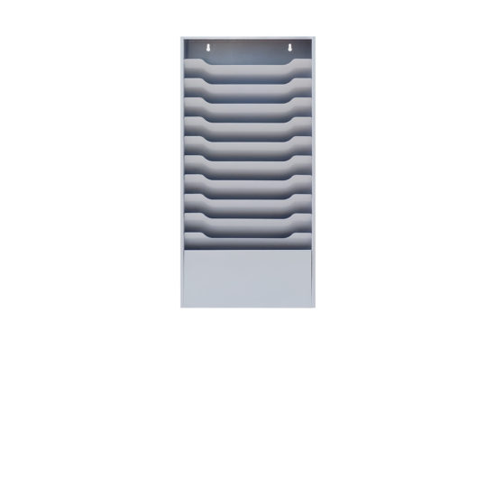 Wall Literature Holder Sorti 11 Wide Blank front
