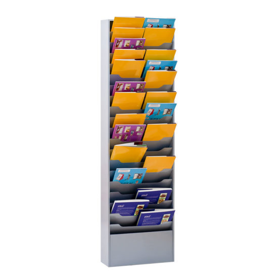Wall Literature Holder Sorti 20 Wide with brochures main