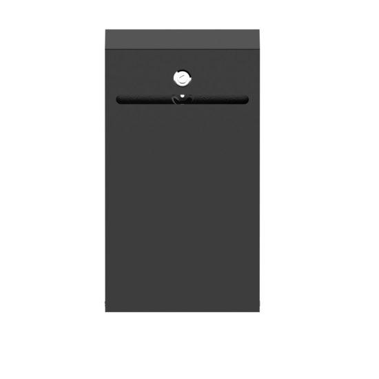 Wall Suggestion Box Karpas Black Front