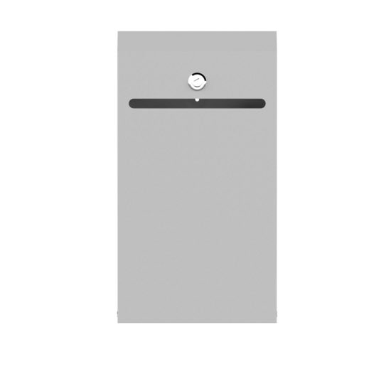 Wall Suggestion Box Karpas Silver Front