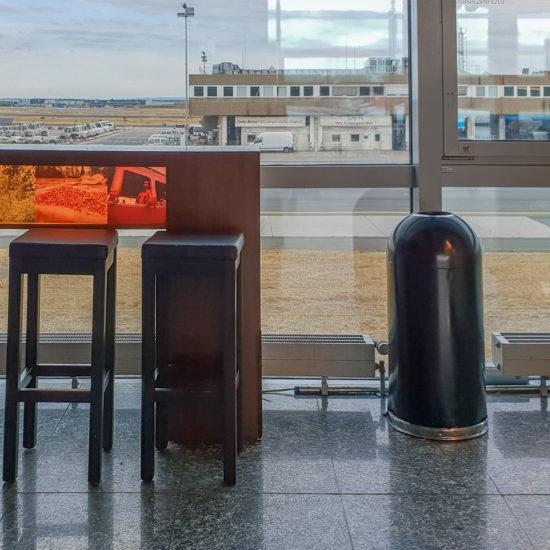 Waste Bin DOM in a Airport