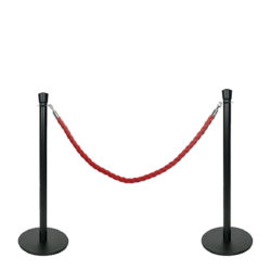 Q-EZI-Rope-Barrier,Black-Black-set