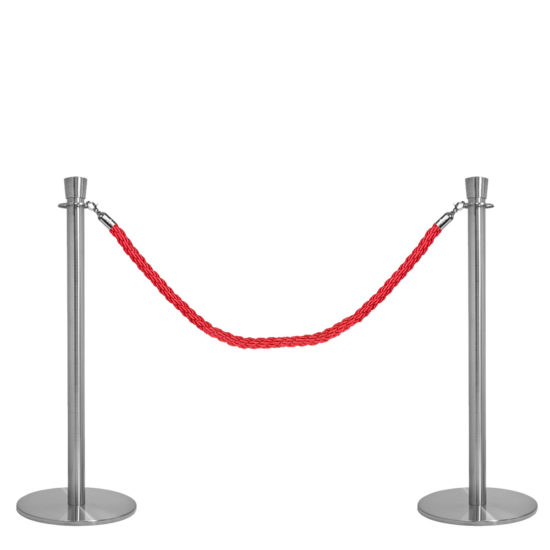 Crowd Control Q EZI Rope Barrier Stainless Red