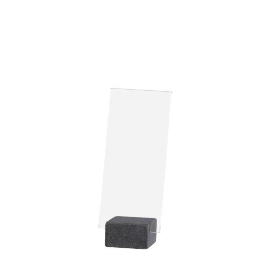 Counter Sign Holder ELEMENT Stone Maxi Dark DL Blank