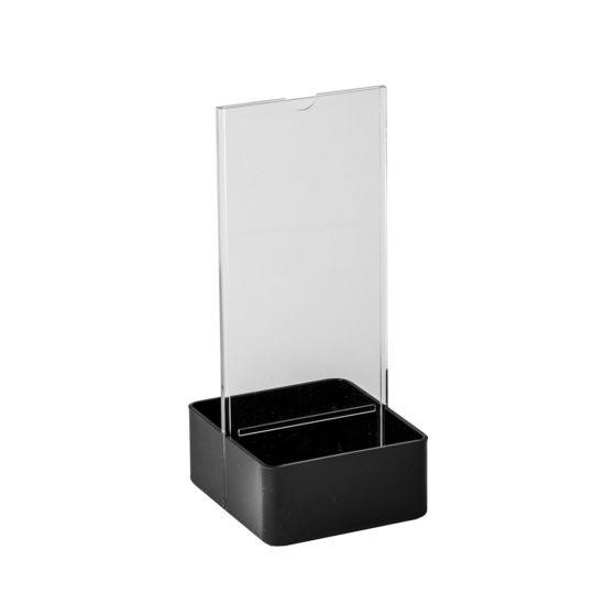 Table Sign Holder AD Basket DL Black Blank