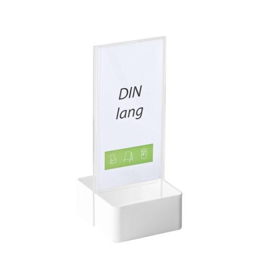 Table Sign Holder AD Basket DL White