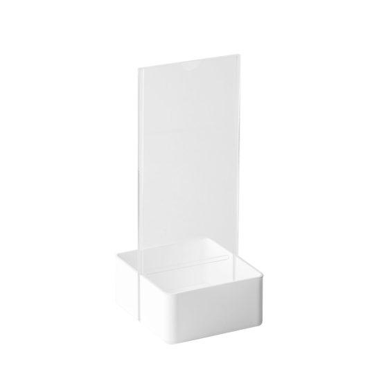 Table Sign Holder AD Basket DL White Blank