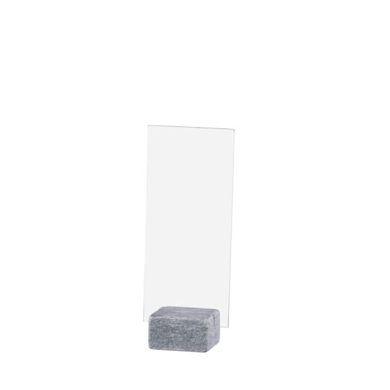 Table Sign Holder ELEMENT Stone Maxi Bright DL Blank