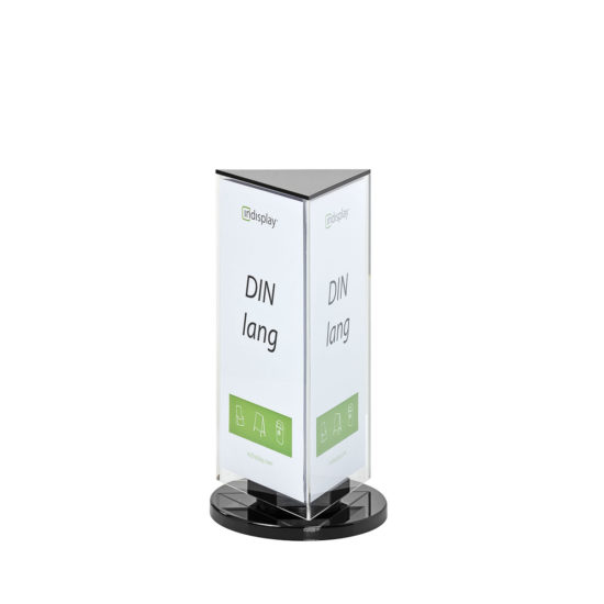 Table Sign Holder Inspin Triangle DL