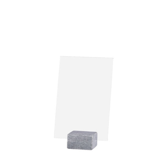 Tabletop Sign Holder ELEMENT Stone Maxi Bright A5 Blank