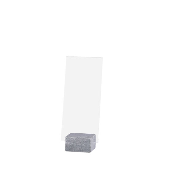 Tabletop Sign Holder ELEMENT Stone Maxi Bright DL Blank