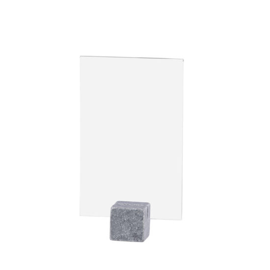 Tabletop Sign Holder ELEMENT Stone Midi Bright A6 Blank