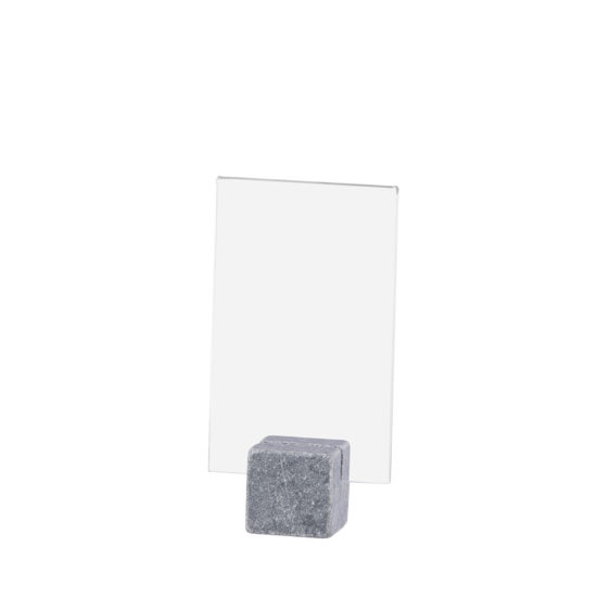 Tabletop Sign Holder ELEMENT Stone Midi Bright A7 Blank