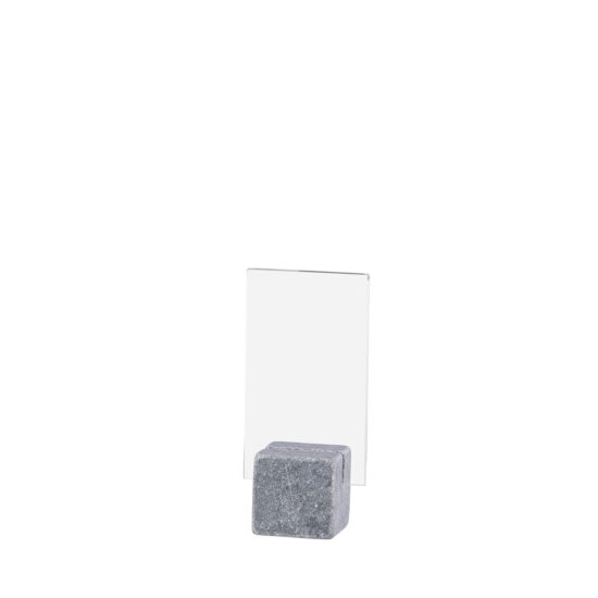 Tabletop Sign Holder ELEMENT Stone Midi Bright A8 Blank