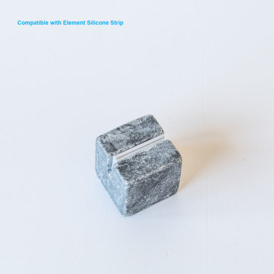 Tabletop Sign Holder ELEMENT Stone Midi Bright silicon strip