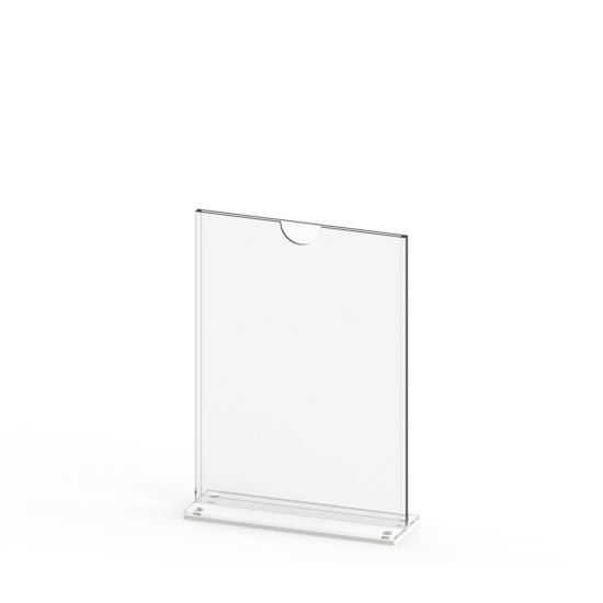 Tabletop Sign Holder TMag A5 White Blank