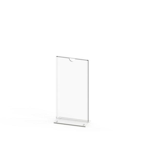 Tabletop Sign Holder TMag DL, White Blank