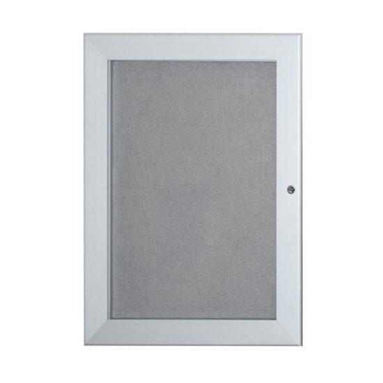 Fabric Notice Board Slim, closed