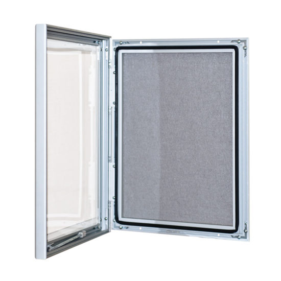 Fabric Notice Board Slim, open