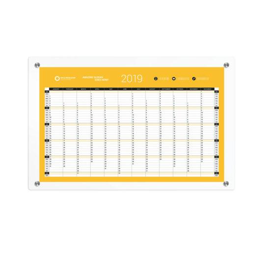 Glass Floating Frame Calendar blank
