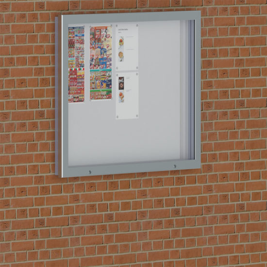 Notice Board Magnetic, Outdoor 15xA4 Shop, Wall