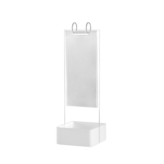 Tabletop Sign Holder Flip Basket White Blank